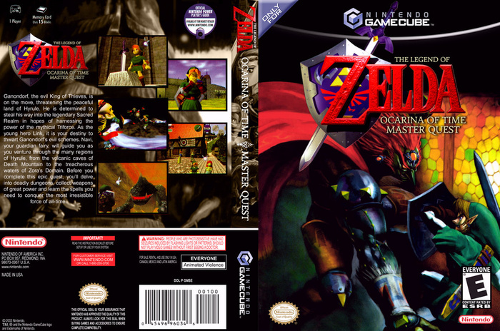 Gamecube Box Art Ocarina of Time Box Art