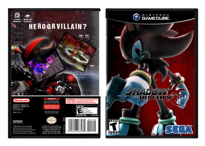 Gamecube Box Art Shadow The Hedgehog Box Art