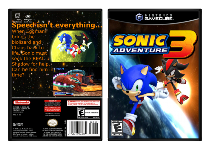 Sonic Adventure 3 GameCube Box Art Cover by uther