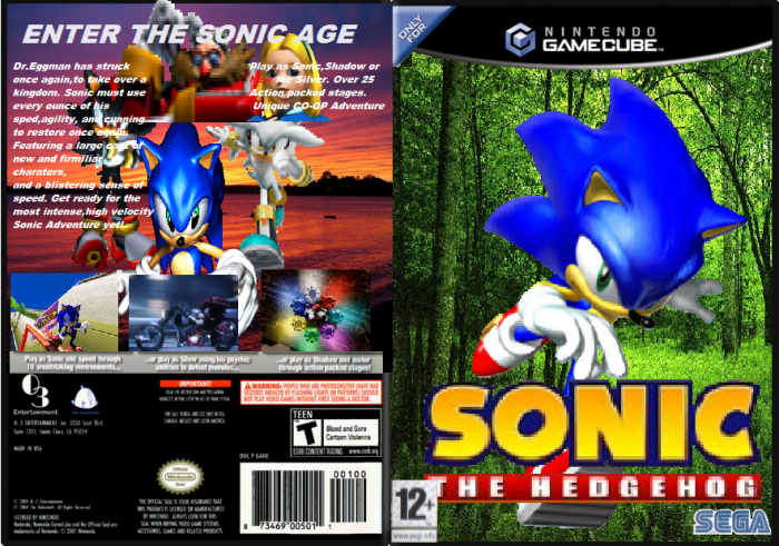 Sonic The Hedgehog Gamecube Box Art Cover By 2400gamer