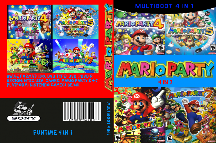 Mario Party 4 In 1 GameCube Box Art Cover by GregorySmith1245