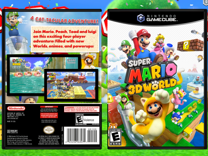 Gamecube Box Art Super Mario World 3d Box Art