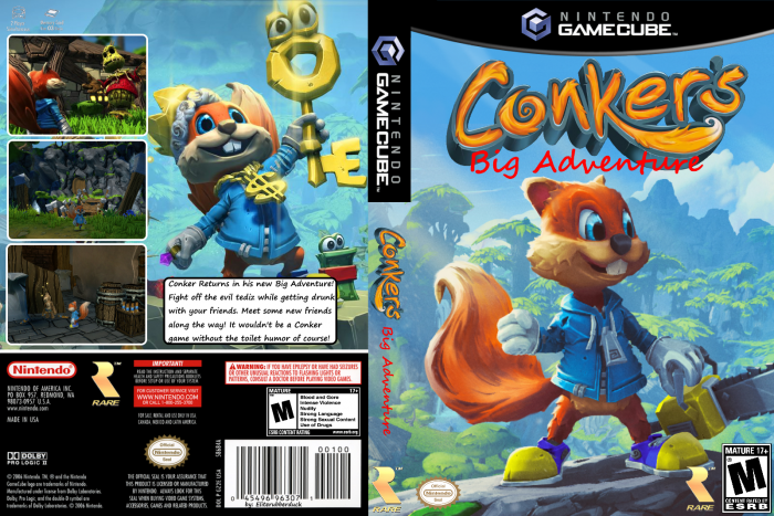 Conker S Big Adventure Gamecube Box Art Cover By