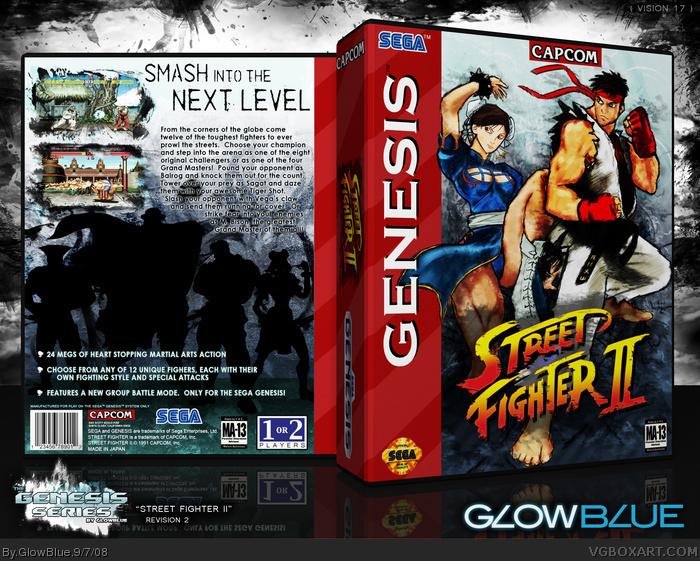 street fighter 2 turbo snes cover art