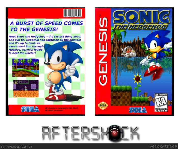 Sonic The Hedgehog Genesis Box Art Cover By Aftershock