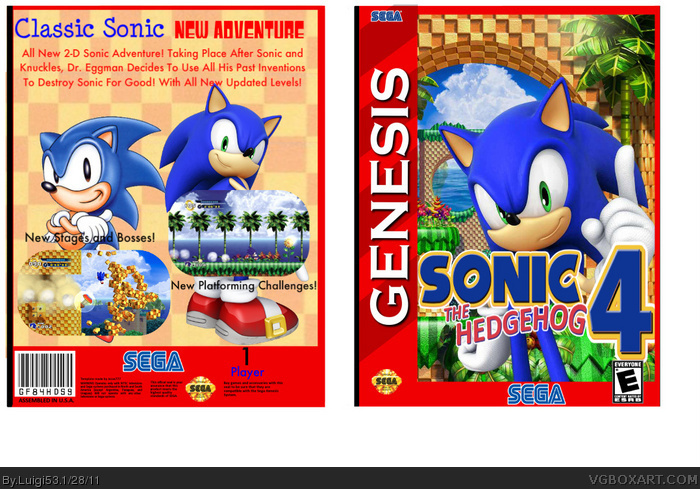 Sonic The Hedgehog 4 Genesis Box Art Cover By Luigi53
