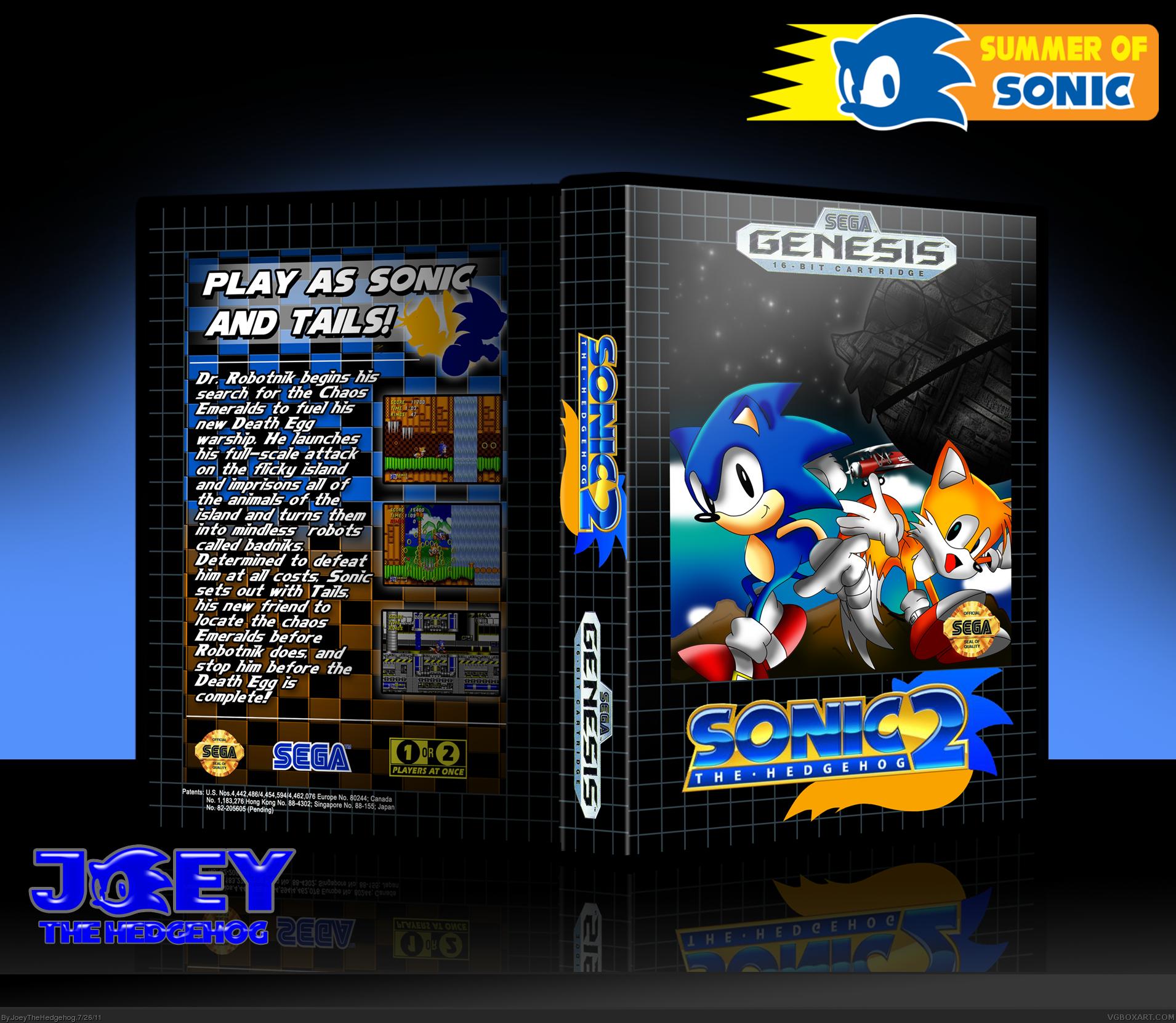 Sonic The Hedgehog 2 Genesis Box Art Cover By Joeythehedgehog