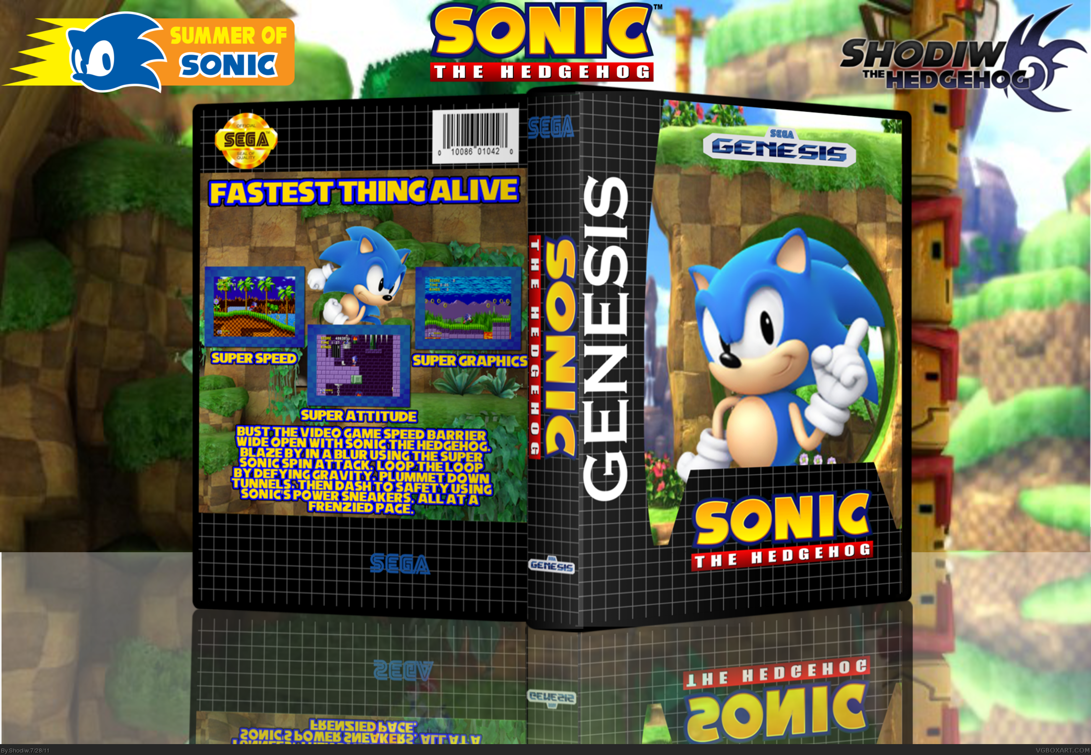 Sonic The Hedgehog Genesis Box Art Cover By Shodiw