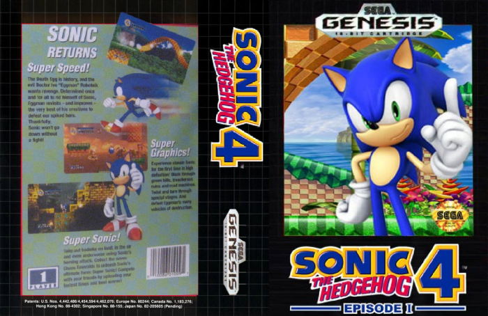 Sonic The Hedgehog 4 Episode 1 Genesis Box Art Cover By 1992supershadow