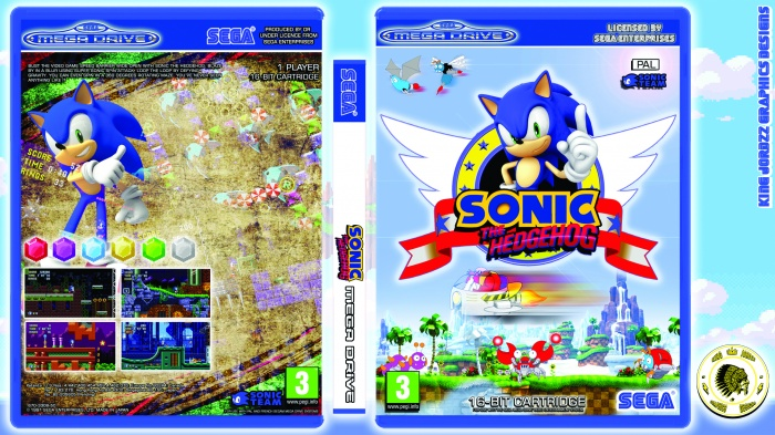 Sonic The Hedgehog Genesis Box Art Cover By Kingjordzzgraphics85