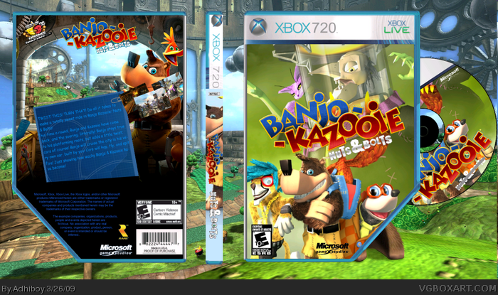 Banjo Kazooie: Nuts and Bolts Misc Box Art Cover by Adhiboy