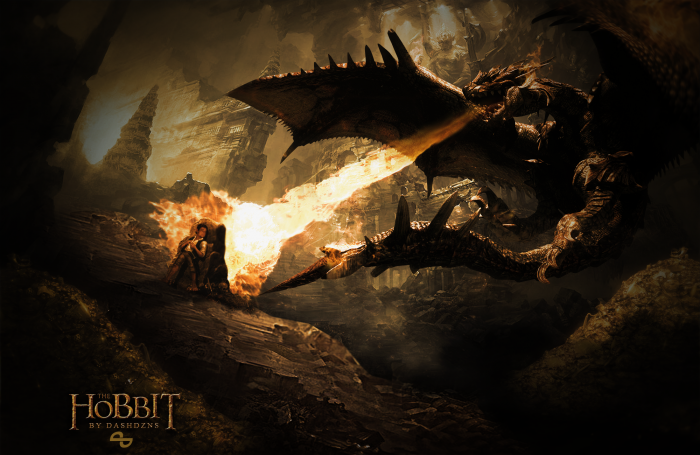 the hobbit wallpaper poster misc box art cover by takamura97