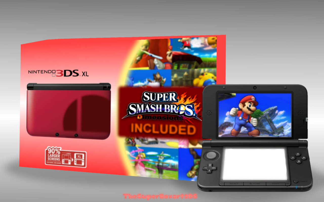 Super Smash Bros. Dimensions Limited Edition 3DS XL box cover