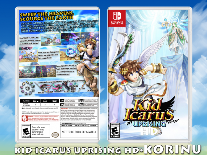 Kid Icarus Uprising HD Misc Box Art Cover by Korinu