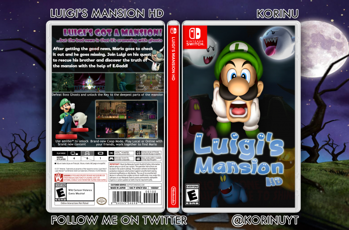 Luigi S Mansion Hd Misc Box Art Cover By Korinu