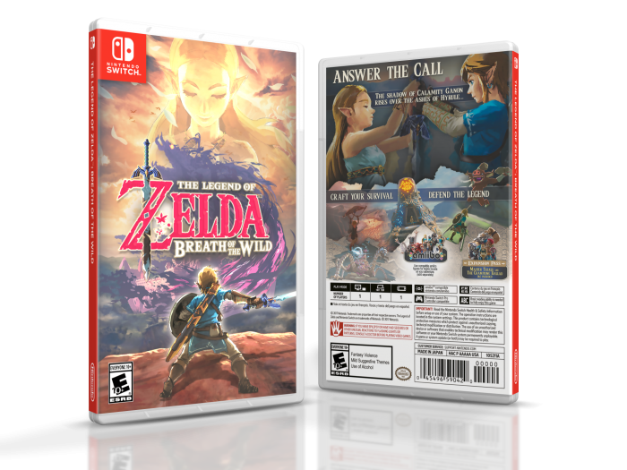 The Legend Of Zelda Breath Of The Wild Misc Box Art Cover By Brettska99