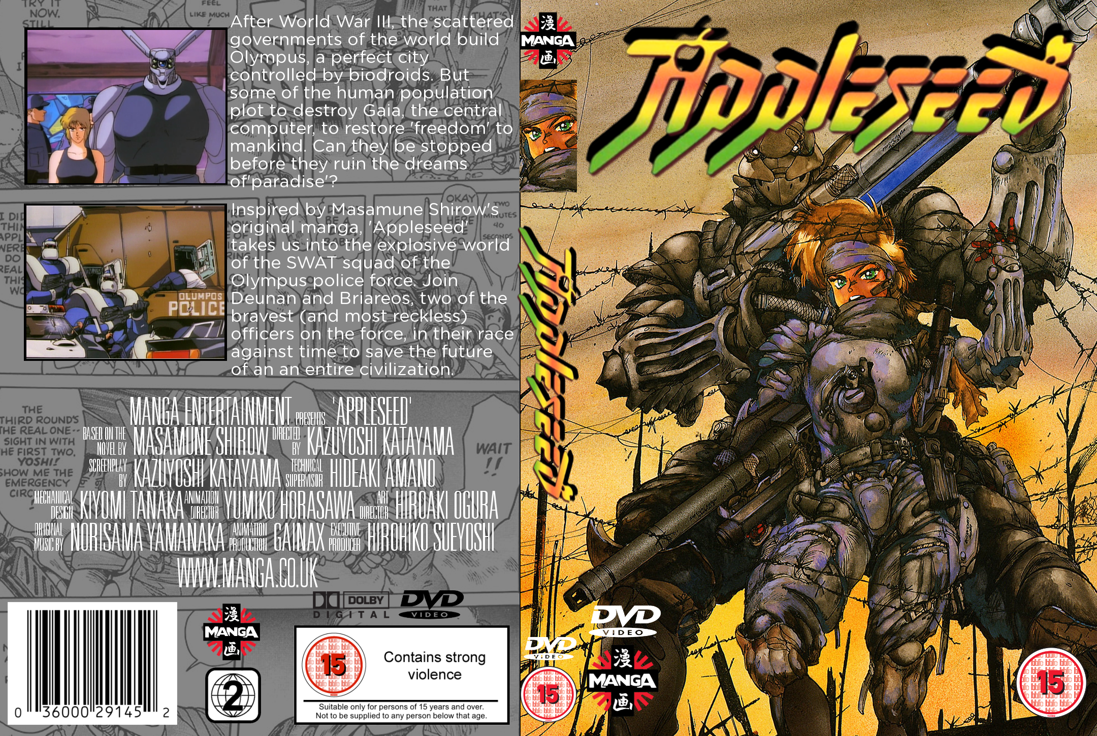 Appleseed Movies Box Art Cover By Megamuncher