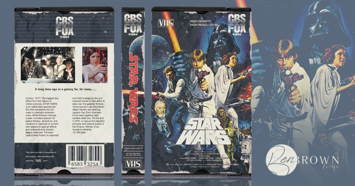 Star Wars Episode Iv A New Hope Movies Box Art Cover By Benbrowndesign
