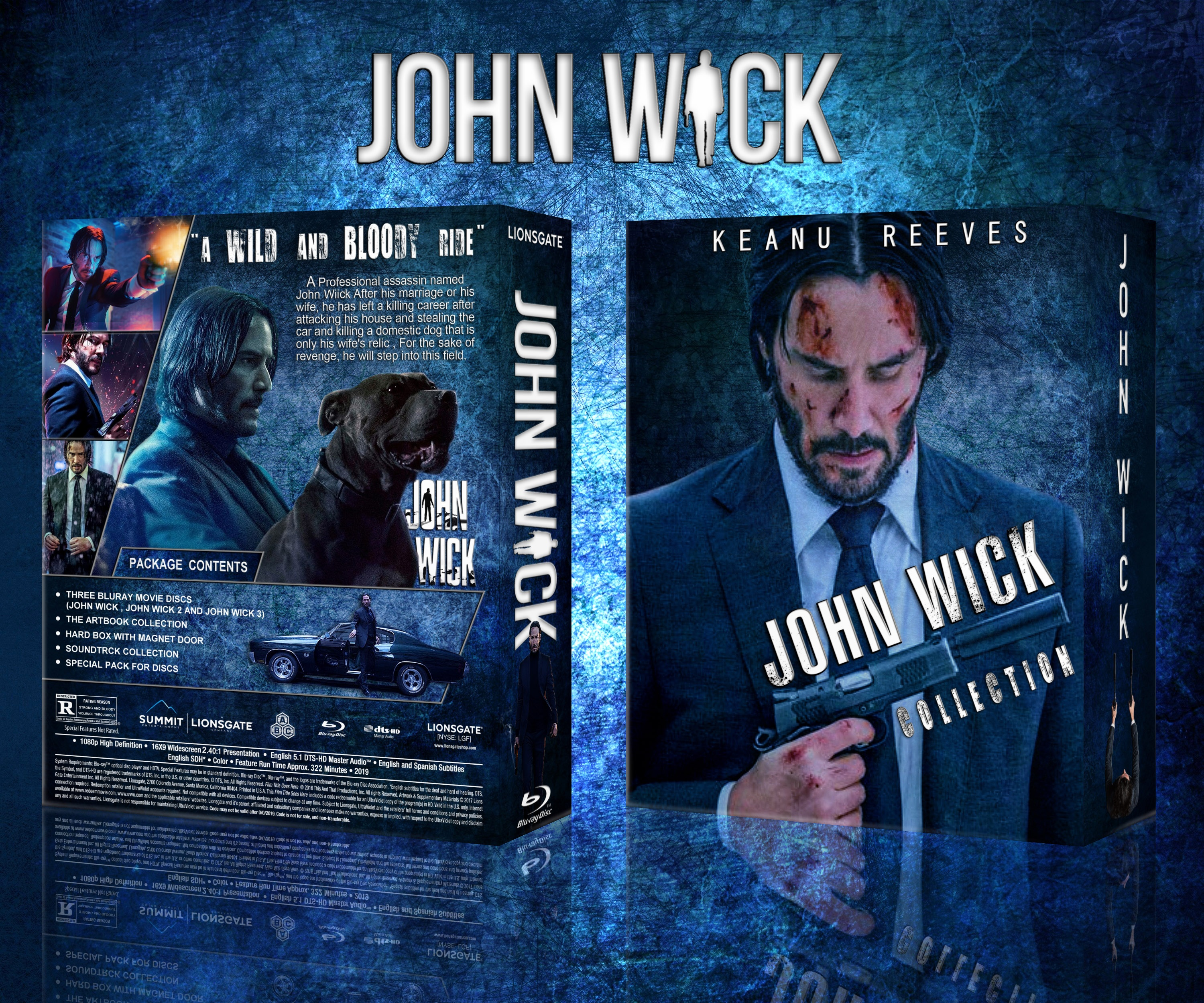 John Wick Collection Movies Box Art Cover By Saeid