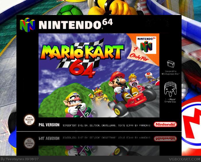 Mario Kart 64 Nintendo 64 Box Art Cover By Yeestaynes