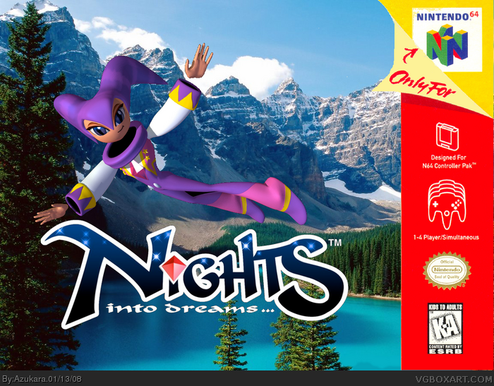 Nights Into Dreams Nintendo 64 Box Art Cover By Azukara