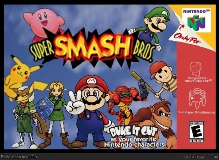 Super Smash Bros Nintendo 64 Box Art Cover By Bovocop