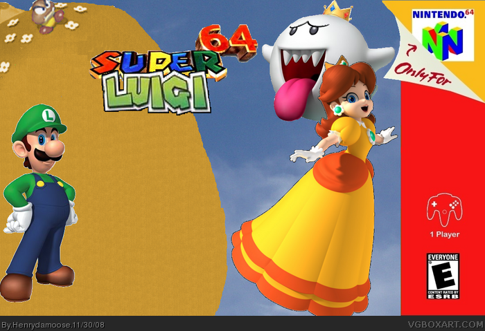 Super Luigi 64 Nintendo 64 Box Art Cover By Henrydamoose