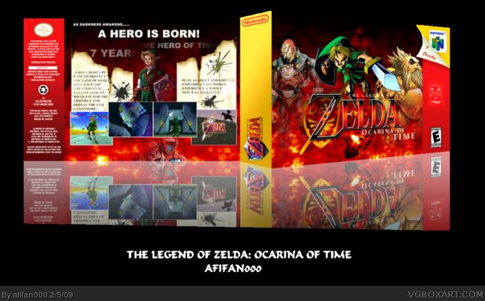 The Legend of Zelda: Ocarina of Time Nintendo 64 Box Art