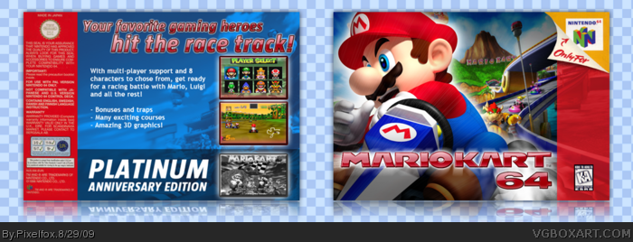 Mario Kart 64 Nintendo 64 Box Art Cover By Pixelfox