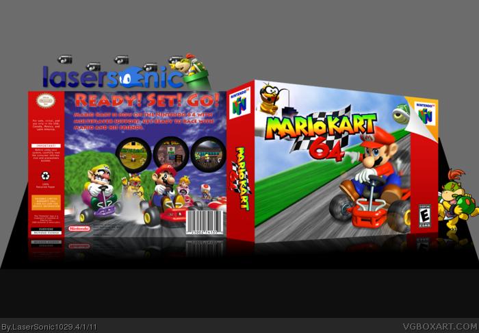 Mario Kart 64 Nintendo 64 Box Art Cover By Lasersonic1029