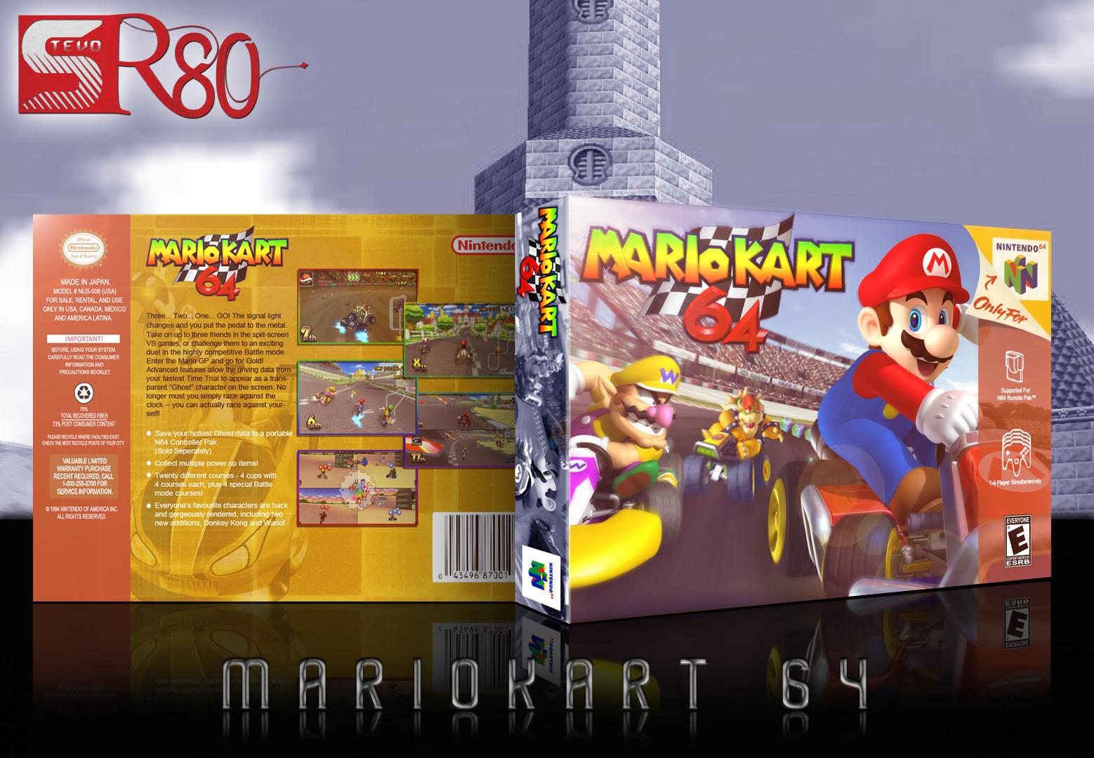 Mario Kart 64 Nintendo 64 Box Art Cover By Stevanr80