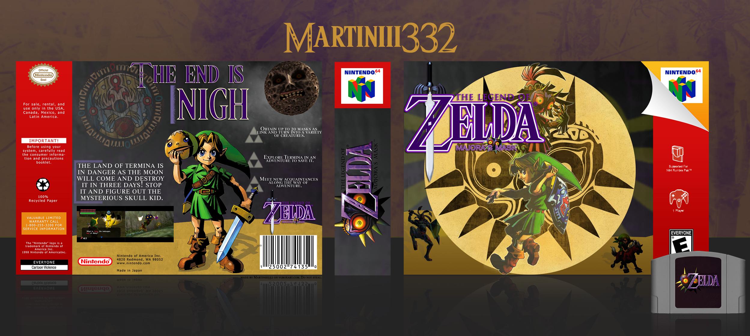 The Legend of Zelda: Majora's Mask Nintendo 64 Box Art Cover by