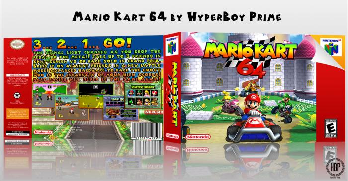 Mario Kart 64 Nintendo 64 Box Art Cover By Hyperboy Prime
