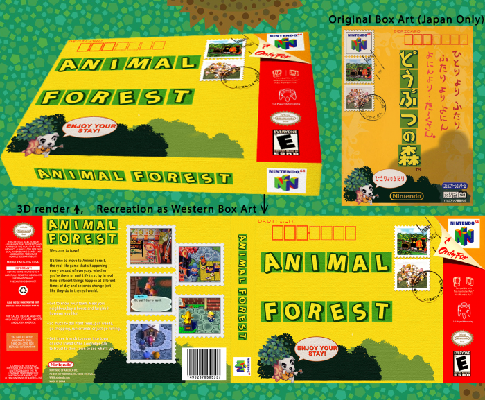 Animal Crossing: Animal Forest Nintendo 64 Box Art Cover by