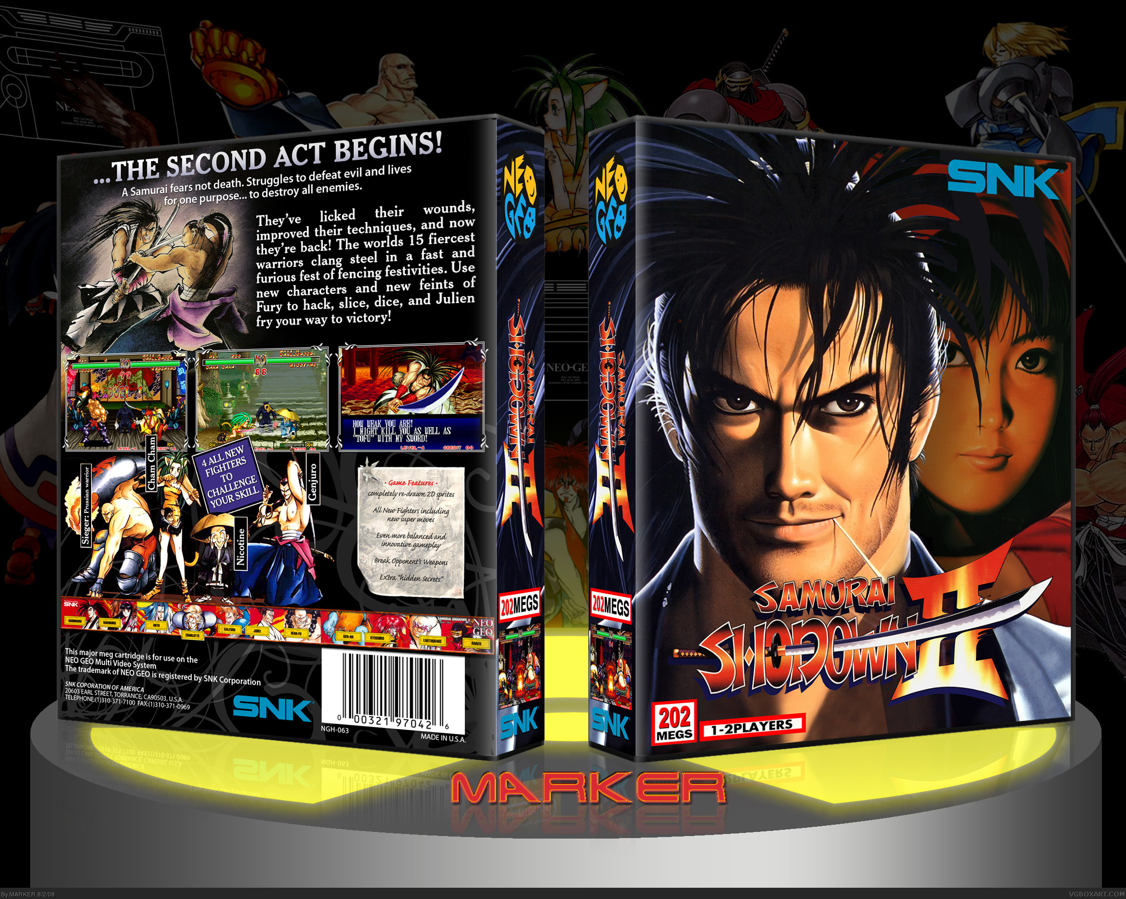 Viewing full size samurai shodown ii box cover