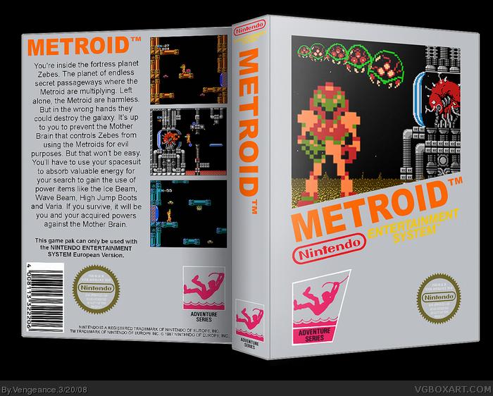 Metroid NES Box Art Cover by Vengeance