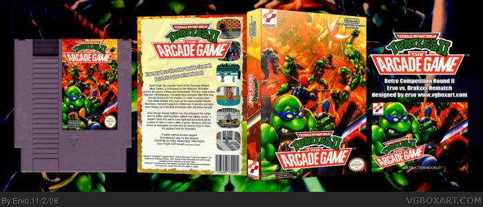 Teenage Mutant Ninja Turtles 2: The Arcade Game NES Box Art