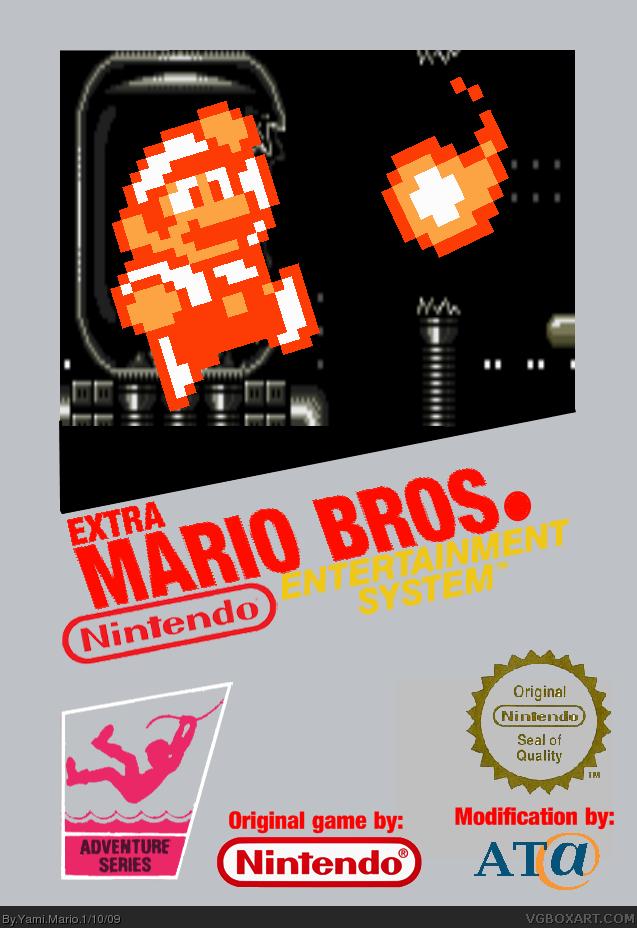 Extra Mario Bros Nes Box Art Cover By Yami Mario