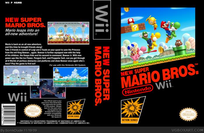 New Super Mario Bros Wii Nes Box Art Cover By Sonikdude