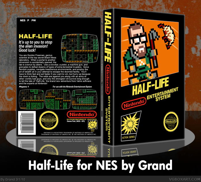 Half Life Nes Box Art Cover By Grand