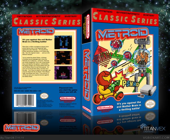 Metroid NES Box Art Cover by Titan38