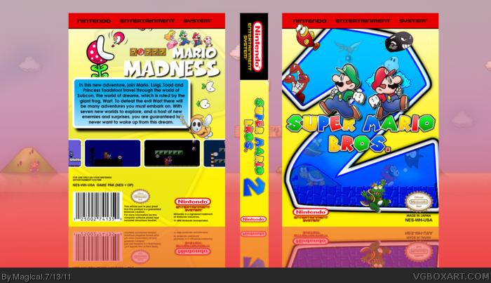 Super Mario Bros 2 Nes Box Art Cover By Magical