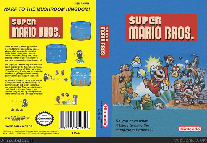 Super Mario Bros Nes Box Art Cover By Impostor