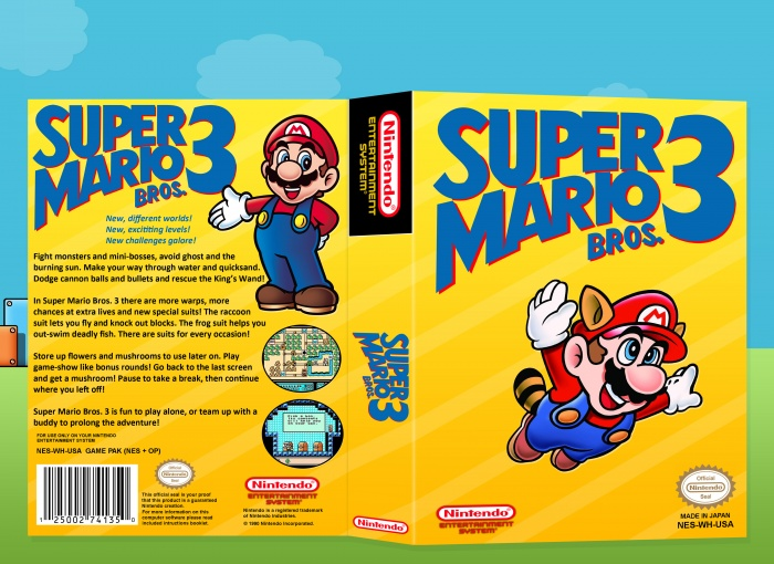 Super Mario Bros 3 Nes Box Art Cover By Laughatbilly