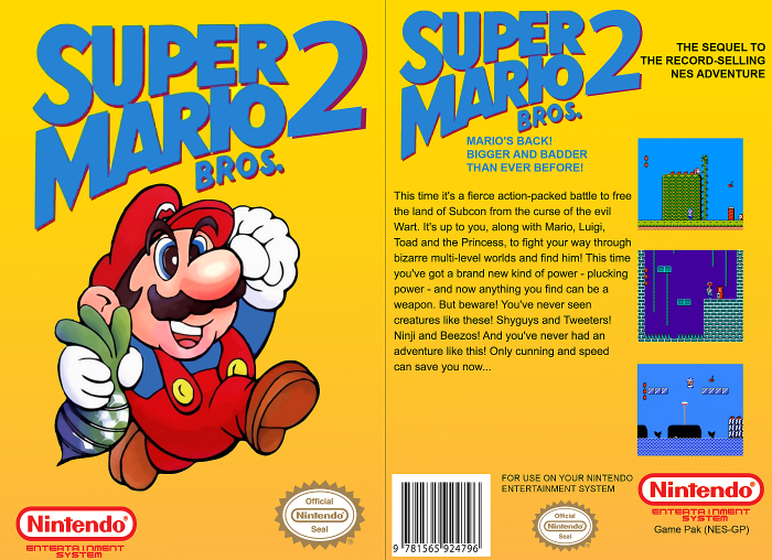 Super Mario Bros 2 Nes Box Art Cover By Tigris