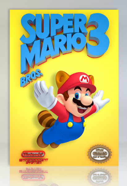super mario bros 3 nes box