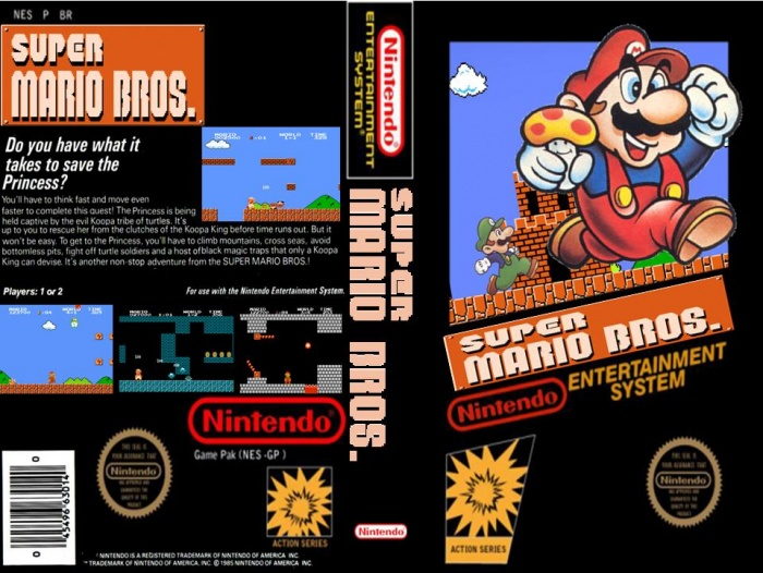 super mario bros nes cover art