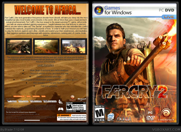 Farcry 2 Pc Box Art Cover By Blade