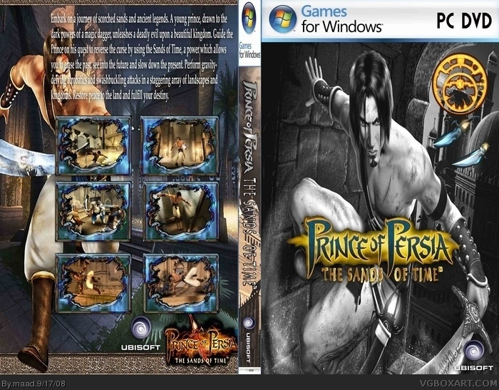 Prince Of Persia The Sands Of Time Pc Box Art Cover By Maad