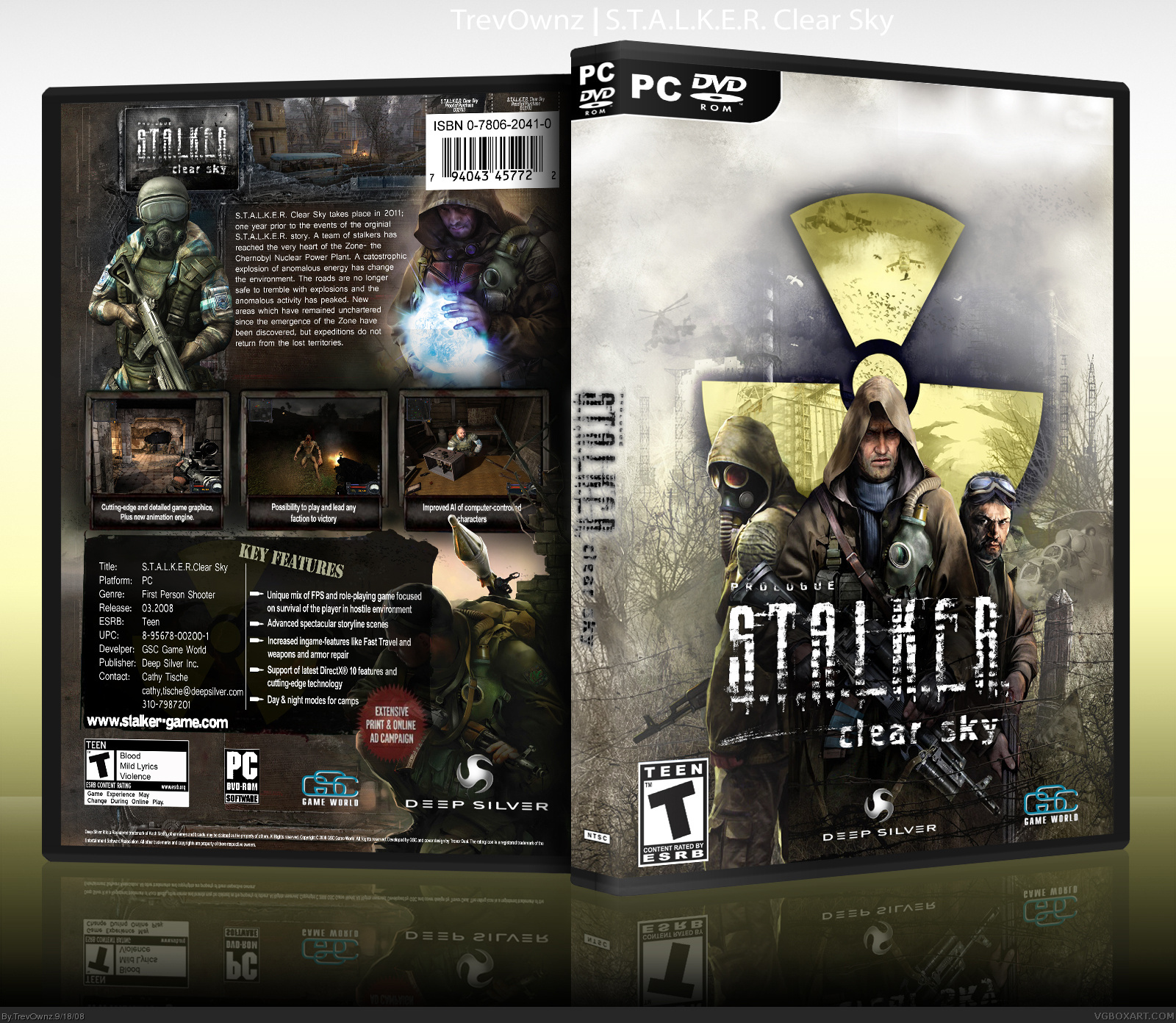 S T A L K E R Clear Sky Pc Box Art Cover By Trevownz